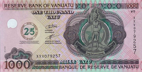 Vt Vanuatu Vatu Vuv